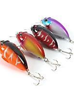 4 pcs Hard Bait Crank Fishing Lures Hard Bait Crank Assorted Colors g/Ounce,70 mm/2-3/4