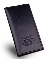 Men PU Casual Outdoor Office & Career Checkbook Wallet All Seasons