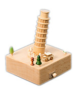 Music Box Square Model & Building Toy Wood Unisex