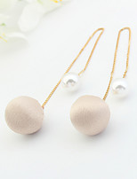 Drop Earrings Euramerican Fashion Copper Fabric Round Jewelry For Daily 1 Pair