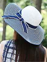 Bowknot Beach Cap Floppy Foldable Girls Big Wide Brim Straw Hat
