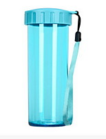 430ml Portable Transparent Plastic Cup With Cover