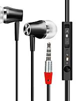 Kostnadseffektivt in-ear hörlurar med mikrofon HD ljudkvalitet hörlurar 3,5 mm ljud musik headset röststyrning