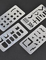 Unha polonês raspador arte natalício santa claus elk stamping imagem placas jogo manicure estêncil ferramenta