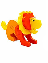 Пазлы 3D пазлы Строительные блоки Игрушки своими руками Лев Дерево Модели и конструкторы