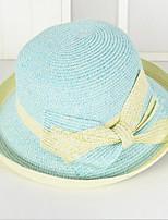 Bow Tie Straw Hat Sun Hat Outdoor Beach  Uv Lady Men Wide Large Brim Floppy Foldable Cap