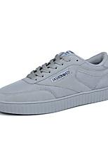 Herren Sneaker Komfort Slouch Stiefel Tüll PU Frühling Sommer Normal Walking Komfort Slouch Stiefel Schnürsenkel Flacher AbsatzSchwarz