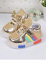 Girls' Flats Spring Fall Comfort PU Casual Flat Heel Silver Gold