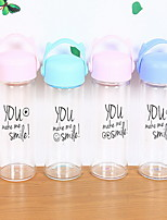 2Pcs Transparent Outdoor Drinkware 301-400 ml Portable Glass Water Water Bottle Random Color