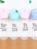Transparente Exterior Artigos para Bebida, 301-400 ml Portátil Vidro Água Garrafas de Água