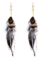 lureme® Drop Earrings Jewelry Tattoo Style Punk Multi-ways Wear Statement Jewelry Africa Classic Feather Geometric Wings / Feather Jewelry For