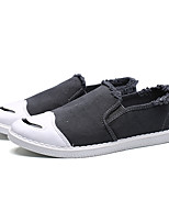 Men's Loafers & Slip-Ons Spring Fall Moccasin PU Casual Braided Strap Split Joint Gray Black Walking