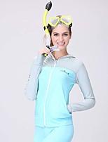 Femme Haut de Combinaison Séchage rapide Compression Tenue de plongée Hauts/Tops-Plongée Printemps Eté Mode