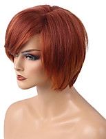 Diy gemischte Farbe kurz bobo Haar Menschenhaar Perücke schöne Frau Haar