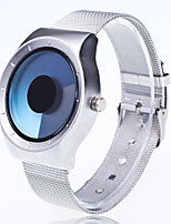 Unisex Fashion Watch Wrist watch Unique Creative Watch Chinese Quartz Large Dial Stainless Steel Band Unique Creative Casual Silver