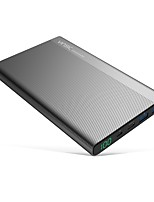 Vinsic 20000mah tipo-c banco de poder de carga rápida dual smart usb&Tipo-c saídas carregador de bateria externo para samsung huawei