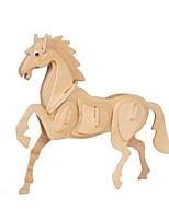 Пазлы 3D пазлы Строительные блоки Игрушки своими руками Лошадь Дерево Модели и конструкторы