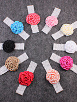 Kid's Handmade Flowers Colorful 10Pieces  Lace Fashion Handbands