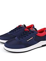Черный Серый Синий-Для мужчин-Повседневный-ТюльУдобная обувь-Кеды