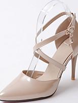 -Для женщин-Свадьба Для офиса Повседневный-Синтетика Дерматин Полиуретан-На шпильке-Удобная обувь Оригинальная обувь-Обувь на каблуках