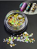 1Bottle Hot Fashion Glitter Round Paillette Decoration Nail Art DIY Beauty Round Slice P20