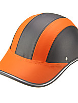 Motor Helmet Baseball Cap Style Safety Hard Hat Anti-UV  OrangeBlack