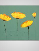 Estampados de Lonas Esticada Floral/Botânico Moderno,1 Painel Tela Horizontal Impressão artística Decoração de Parede For Decoração para