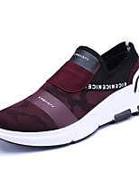 Men's Sneakers Spring Summer Comfort Tulle Outdoor Athletic Casual Flat Heel Burgundy Black Running