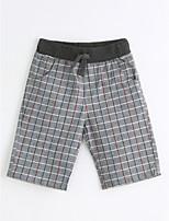 Para Meninos Shorts Casual Poás Verão Algodão