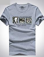 Homens Camiseta Pesca Respirável Verão