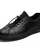 Для мужчин Кеды Удобная обувь Полиуретан Лето Повседневные Для прогулок Удобная обувь Комбинация материалов На плоской подошвеЧерный Цвет