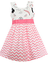 Girls Dress Pink Wave Fruits Dresses Party Birthday Princess Children Clothes