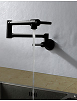 Contemporary Art Deco/Retro Modern Tall/High Arc Pot Filler Standard Spout Wall Mounted Thermostatic Rain Shower Rotatable with  Ceramic