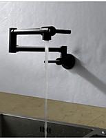 Zeitgenössisch Art déco/Retro Modern Standard Spout Hoch / High-Arc Pot Filler Wandmontage Thermostatische Regendusche drehbarer with