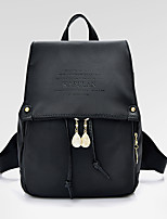 Women Backpack PU All Seasons Formal Casual Outdoor Office & Career Shopping Bucket Toggle Black