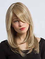 MAYSU  Elegant   Mixed Color Long  Hair Synthetic Wig   Beautiful  Woman hair