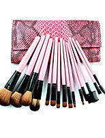 15 Red Snake Pattern Makeup Brush Set Makeup Brush Set Foundation Brush