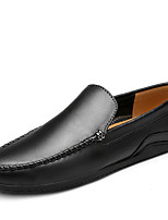 Men's Loafers & Slip-Ons Comfort Spring Summer Leather Casual Wine Brown Black Flat