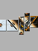 Hand-Painted Abstract Modern Five Panels Canvas Oil Painting  For Home Decoration