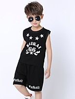 Jazz Outfits Kid's Performance Cotton 2 Pieces Sleeveless Natural Top Shorts