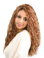 18inch Heat Resistant Synthetic Middle Long Blonde Corn Hair Afro Kinky Curly Wig For Black Women