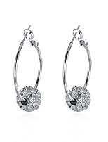 Lucky Doll Drop Earrings Unique Design Dangling Style Brass Zircon Platinum Plated Jewelry ForBirthday Business Gift Daily Casual Office & Career