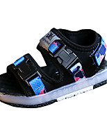 Boys' Sandals Comfort PU Spring Summer Casual Comfort Hook & Loop LED Flat Heel Green Blue Flat