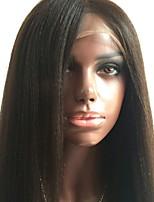 Cheveux beata brésilien yaki perruque frontale lisse sans lacets cheveux vierges Cheveux humains en vrac 130% pour femmes noires