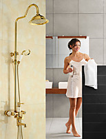 Country Centerset Waterfall Rotatable with  Ceramic Valve Single Handle Two Holes for  Ti-PVD , Shower Faucet