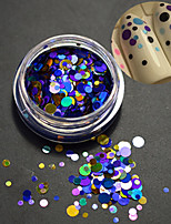 1Bottle Fashion Nail Art Laser Glitter Paillette Round Slice Mixed Colorful Design Decoration P9