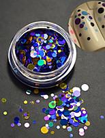 1bottle moda unha arte laser glitter paillette rodada fatia misturada decoração design colorido p9