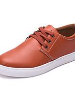 -Для мужчин-Повседневный-Микроволокно-На плоской подошве-Удобная обувь-Туфли на шнуровке
