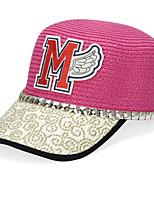 Straw Baseball Cap Cartoon Cap Sunshade Women's Summer Sea Beach Hat