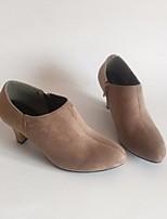 Mulheres botas de primavera conforto pu casuais café